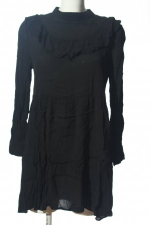 Zara Langarmkleid schwarz Casual-Look