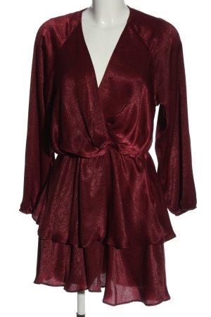 Zara Langarmkleid rot Elegant