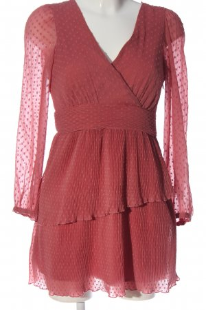 Zara Langarmkleid rot Allover-Druck Party-Look