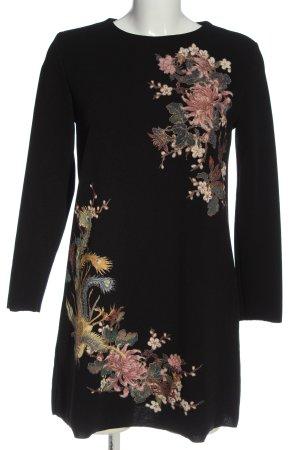 Zara Langarmkleid Blumenmuster Casual-Look