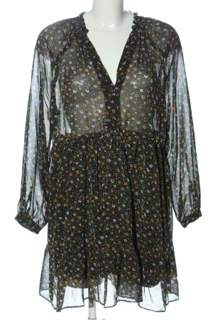 Zara Longsleeve Dress black-primrose allover print business style