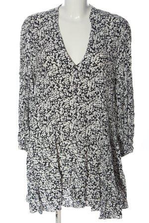 Zara Longsleeve Dress white-black allover print casual look