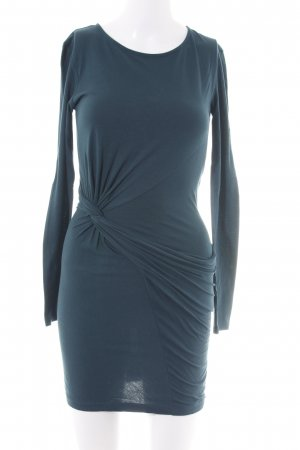 Zara Langarmkleid blau Casual-Look