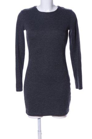 Zara Langarmkleid blau Allover-Druck Casual-Look