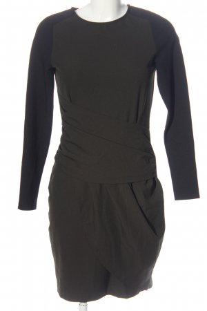 Zara Longsleeve Dress black-khaki casual look
