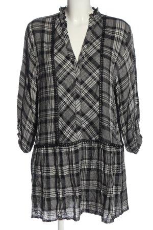 Zara Longsleeve Dress white-black check pattern casual look