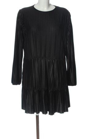 Zara Langarmkleid schwarz Streifenmuster Casual-Look