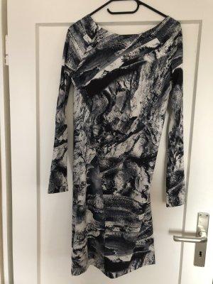 Zara Longsleeve Dress white-black