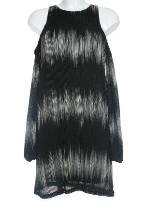 Zara Langarmkleid schwarz-hellbeige Farbverlauf Casual-Look