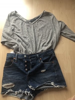 Zara Long Sweater silver-colored