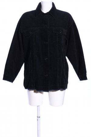 Zara Chaqueta larga negro look casual