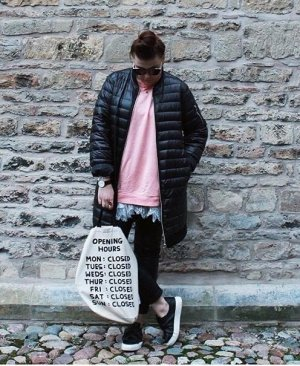 Zara Lange Steppmantel schwarz L XL 40 42 Daunenmantel Daunen Stil Winter Mantel Clean