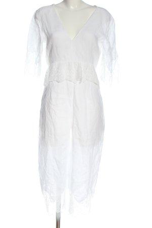 Zara Langer Jumpsuit weiß Elegant
