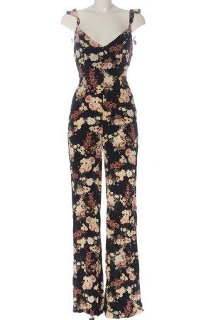 Zara Langer Jumpsuit Blumenmuster Casual-Look