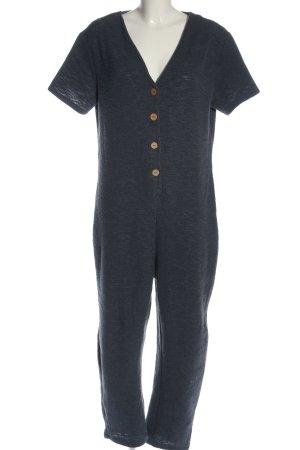 Zara Langer Jumpsuit blau Casual-Look