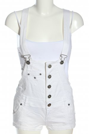 Zara Salopette bianco stile casual