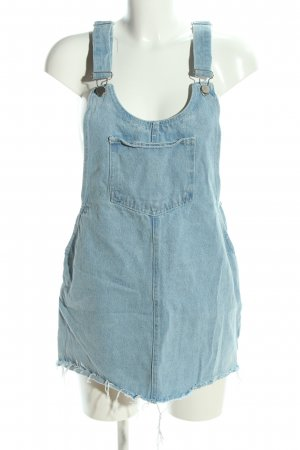 Zara Pinafore Overall Skirt blue casual look