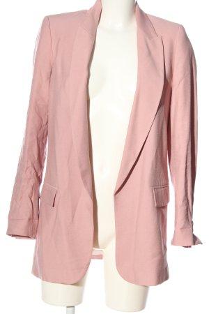 Zara Leren blazer roze zakelijke stijl