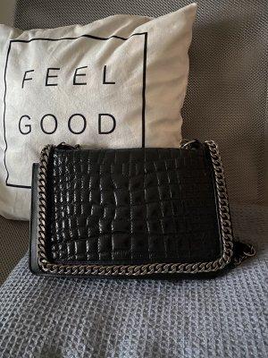 Zara Leder Handtasche Kroko wie Chanel Kette