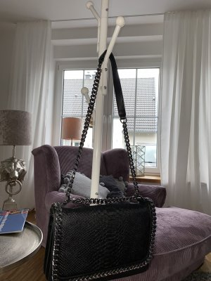 Zara Crossbody bag black-silver-colored