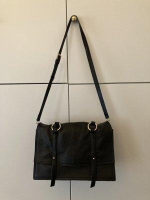 Zara Sac bandoulière noir-doré cuir