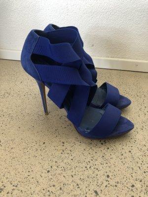 Zara Leder High Heels 41 Blau