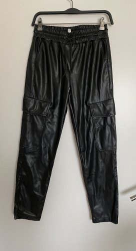 Zara Leather Trousers black