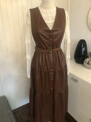 Zara Leather Dress brown