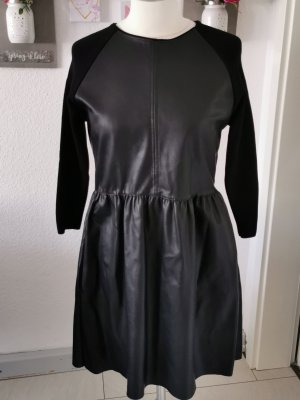 Zara Knit Leather Dress black