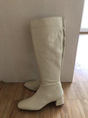 Zara Heel Boots natural white-cream
