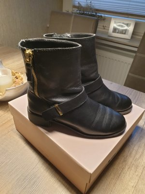 Zara Leder Stiefelette Boots
