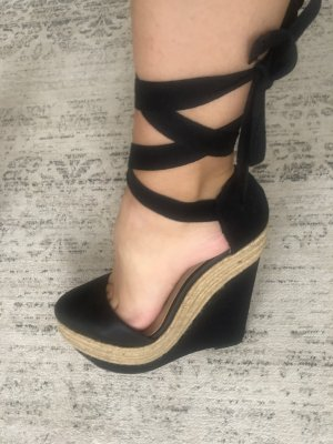 Zara Leder Wedges