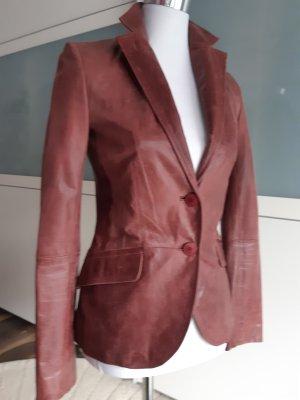 Zara Blazer de cuero púrpura Cuero