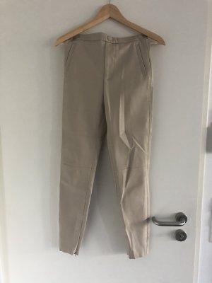 Zara Pantalone in pelle crema