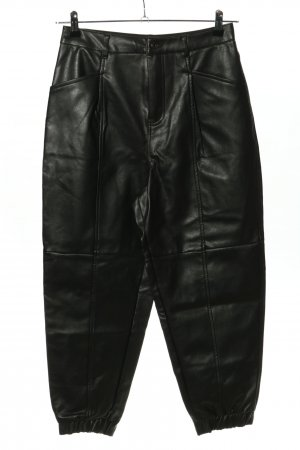 Zara Lederhose schwarz Glanz-Optik