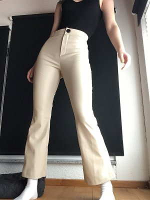 Zara Lederhose beige