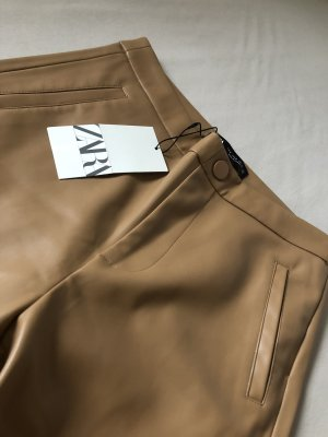 Zara Leather Trousers multicolored