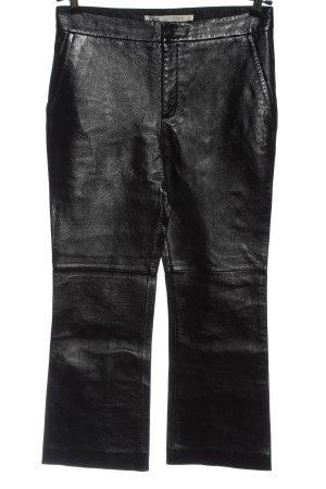 Zara Pantalone in pelle nero stile casual