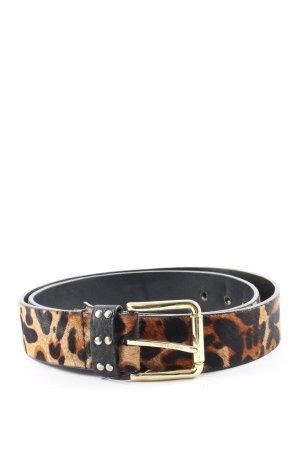 Zara Cinturón de cuero de imitación estampado de leopardo estilo extravagante