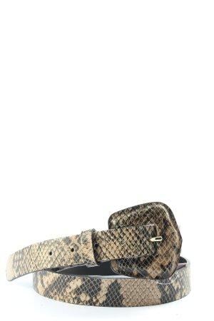 Zara Cinturón de cuero de imitación crema-negro look casual