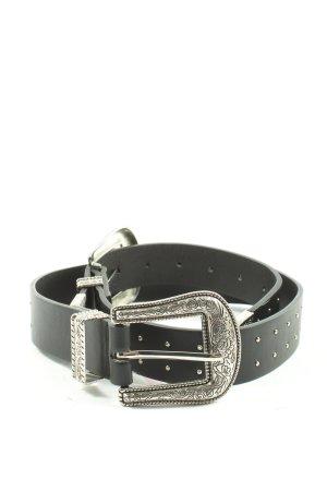 Zara Cinturón de cuero de imitación negro estilo clásico