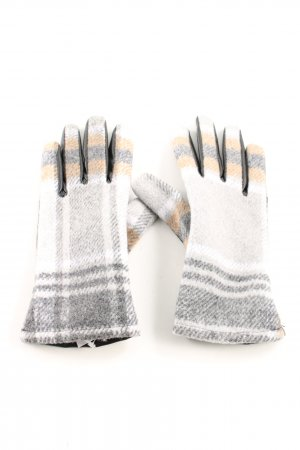 Zara Faux Leather Gloves striped pattern casual look