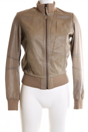 Zara Leather Jacket brown casual look