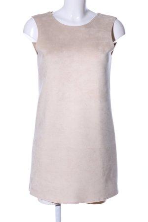 Zara Vestito in pelle bianco sporco stile casual