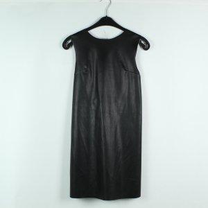 Zara Leren jurk zwart Gemengd weefsel