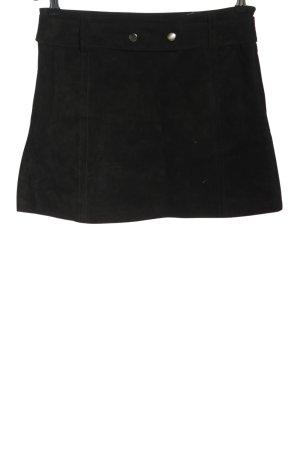 Zara Jupe en cuir noir style décontracté