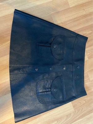 Zara Jupe en cuir noir