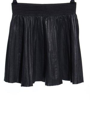 Zara Leren rok zwart casual uitstraling