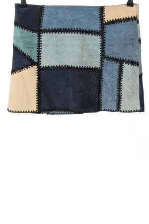 Zara Leren rok blauw-room casual uitstraling