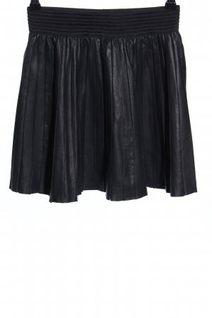 Zara Leather Skirt black casual look